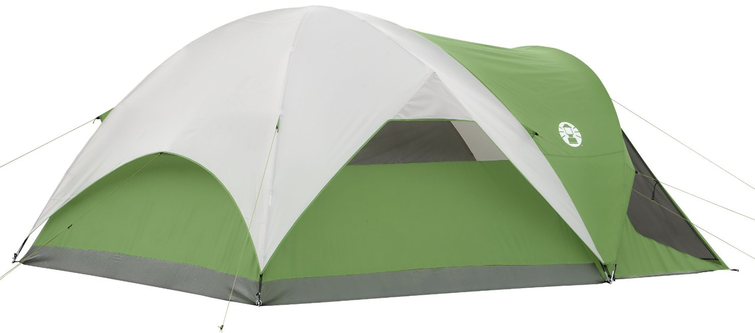 Coleman Evanston Screened 6 Tent Rear View